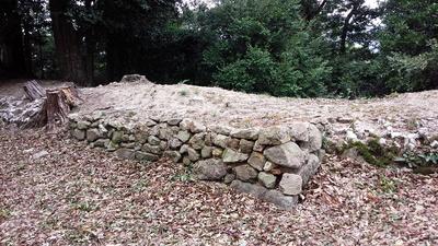 益富城 本丸 櫓跡 石垣