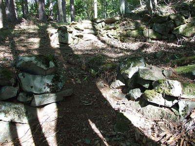 桝形の石積