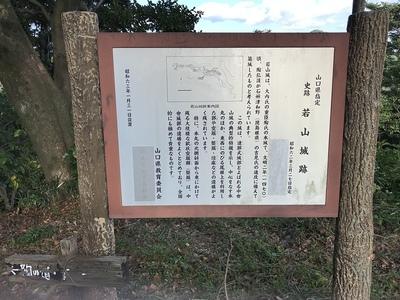 本丸跡にある若山城案内板