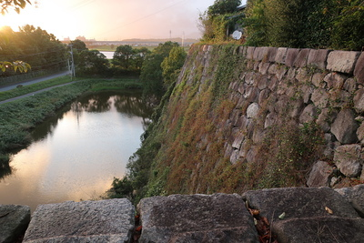 南西側の高石垣と水堀