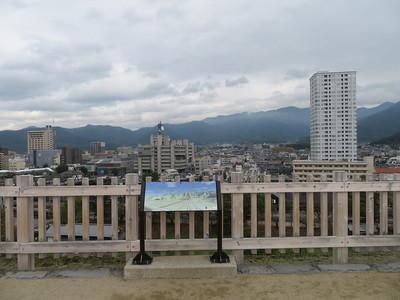 天守台から北側の眺望