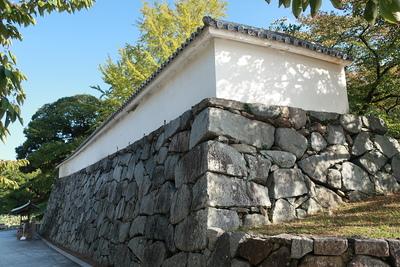 上之橋御門近くの石垣