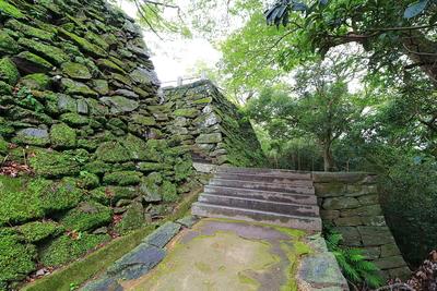 本丸北部、埋め門跡付近の石垣