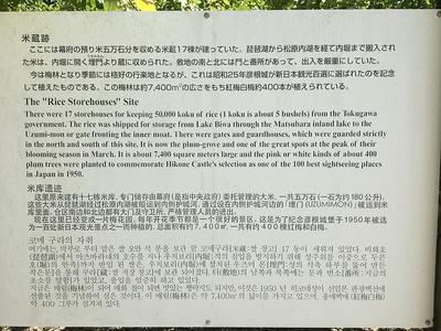 米蔵跡の案内板