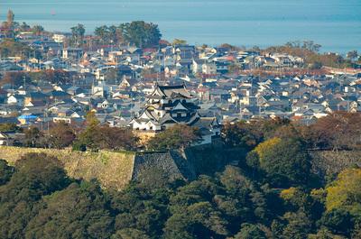 佐和山から見た彦根城
