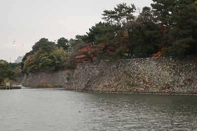 北側の石垣と水堀