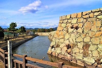 南沖櫓台と二之丸石垣(南側)