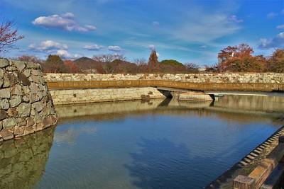 水手門跡と周辺石垣