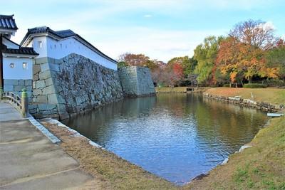 本丸厩口門北側土塀と本丸東北隅櫓台(東側)