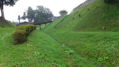 木橋と堀跡