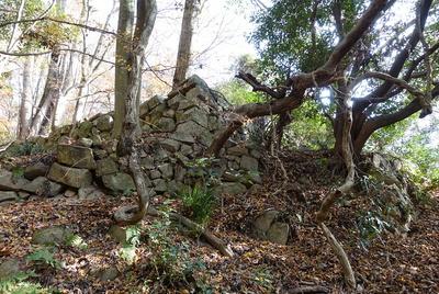 相畑城戸跡の石垣①