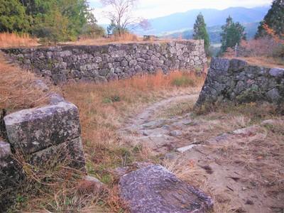 本丸東側の正面入り口にあたる虎口