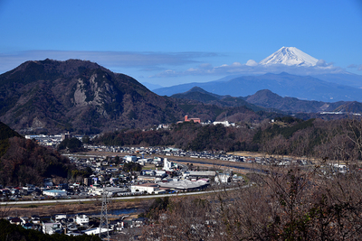 主郭からの眺望 (富士と狩野川)