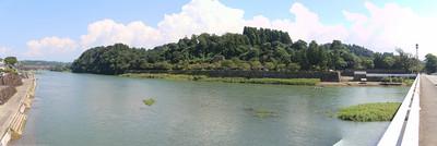 球磨川が自然の堀