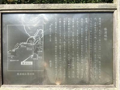 勝浦城、案内板