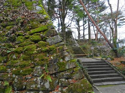 天守台登城階段