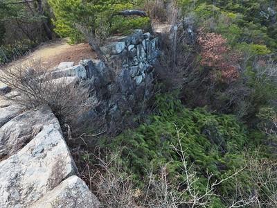 屏風折れの石垣