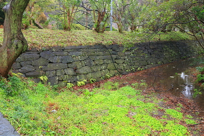 塩蔵門跡から東に続いた石垣