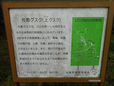 佐敷城 説明板