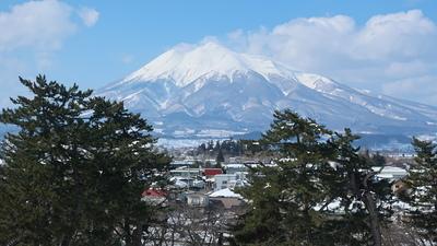岩木山(本丸西端から)