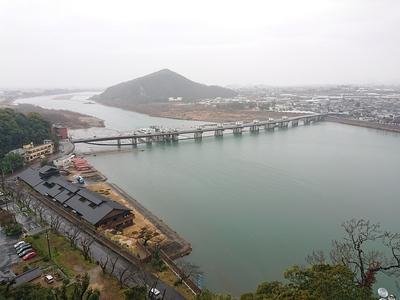 天守からの眺望(木曽川)