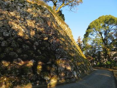 三ノ丸石垣シノギ角