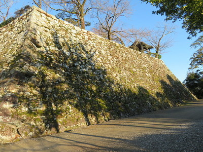 太鼓櫓跡の曲輪の石垣