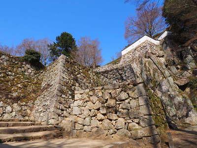 大手門から望む石垣