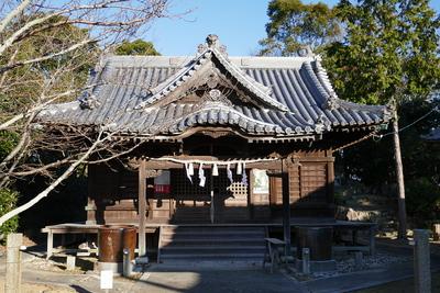 妙見神社の参道から