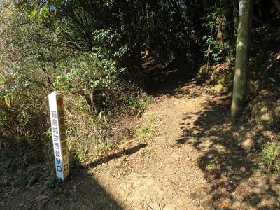 朝倉城跡西登り口