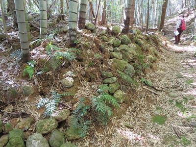 空堀の石積