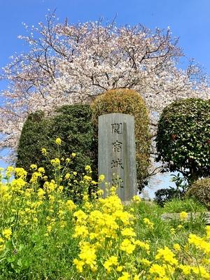 関宿城址碑
