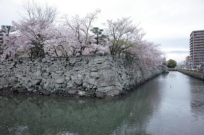月見櫓跡と堀川