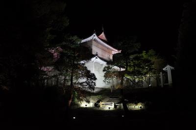 東南隅櫓(桜まつりライトアップ)