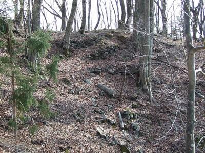 主郭 北側の石積