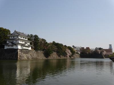 西北隅櫓と西之丸の風景