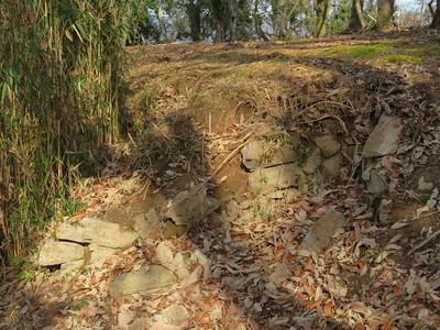 本丸虎口の石積