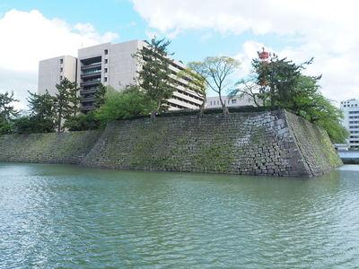 天守台部分の石垣(北側から)