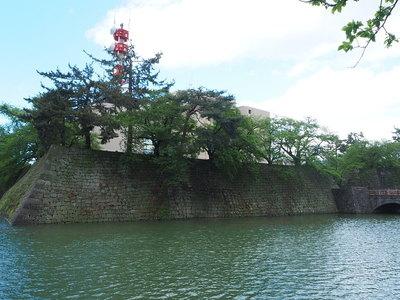 石垣と水堀(南西側)
