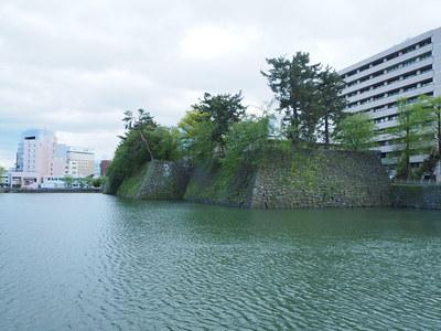 水堀と石垣(北東方面から)