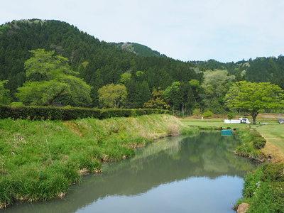 朝倉義景館跡周囲の土塁と堀(北側)