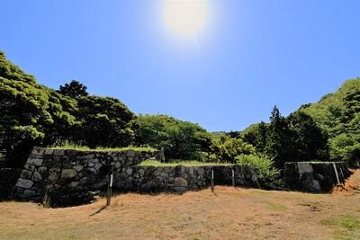 菅谷口付近石垣