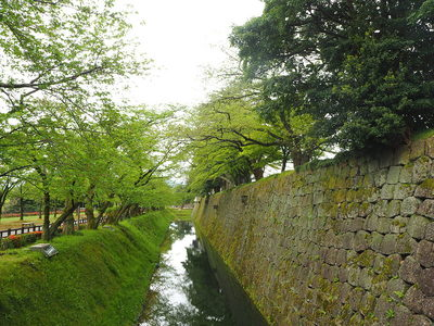 内堀と二の丸北面石垣