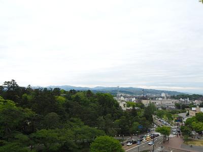 辰巳櫓跡からの眺望