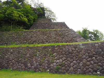 本丸南面の高石垣