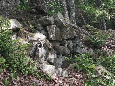 石垣(北Ⅱ曲輪東側)