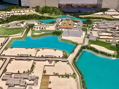 亀山城復元模型