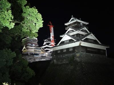 夜の宇土櫓(加藤神社から)