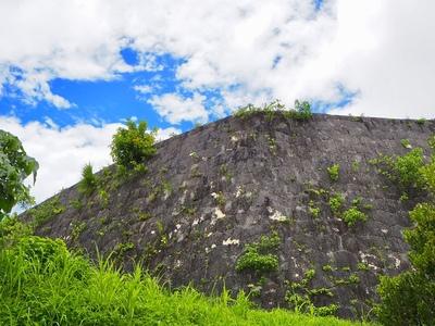外郭南側の石垣