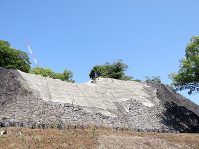 東十八間櫓下の石垣